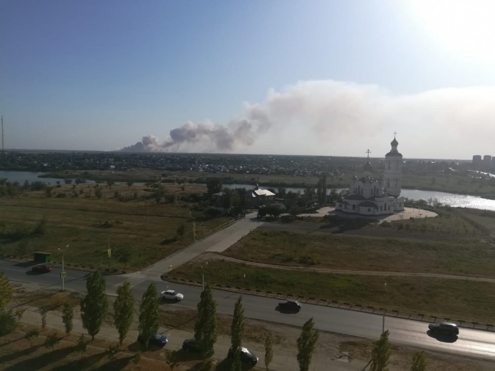 Открытое горение на полигоне ТБО в Волгодонске удалось ликвидировать