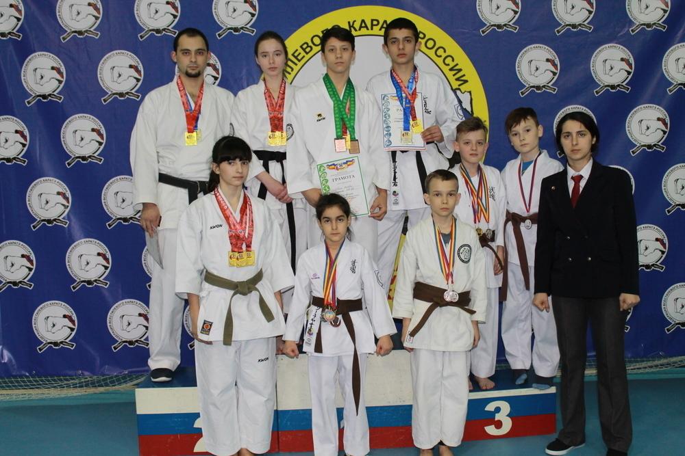 Полсотни медалей привезли волгодонские каратисты в соревнований в Ростове