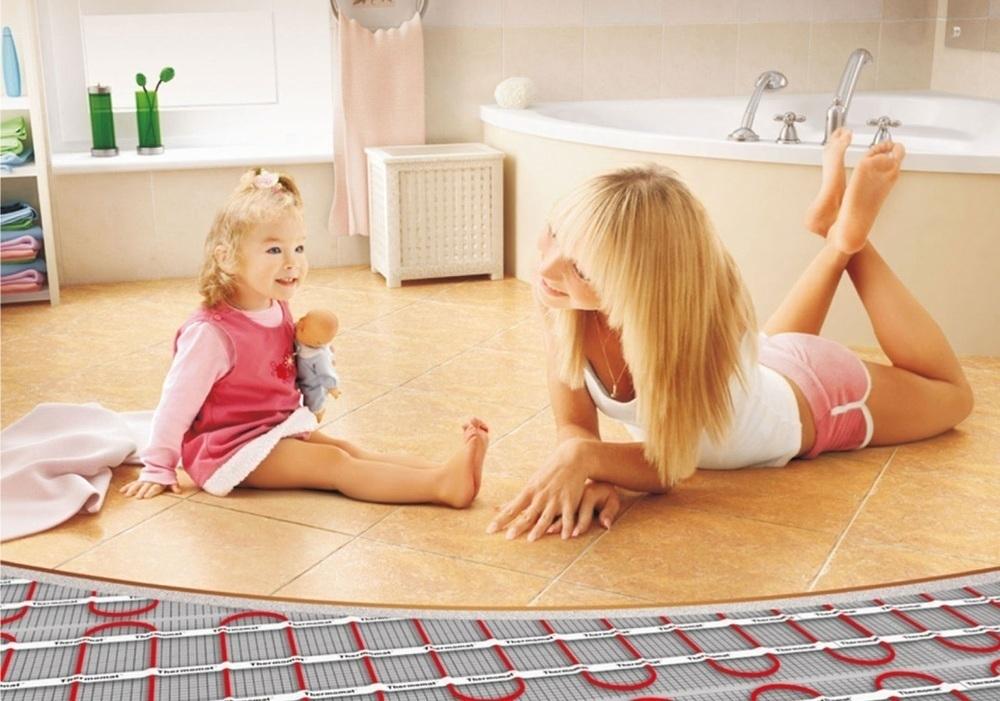 «Ремонт ванной».Шаг 3: Теплый пол в ванную комнату - советы по выбору и монтажу