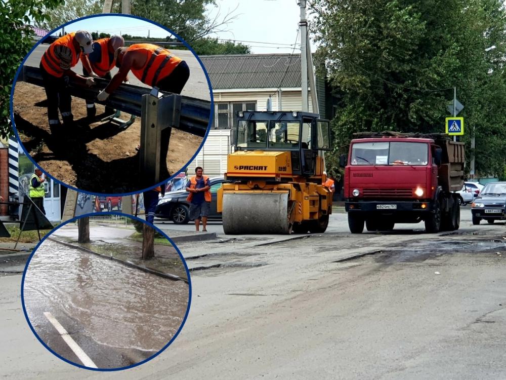 «Отбойники», ямы и внутридворовые проезды:  как в Волгодонске проходит ремонт дорог