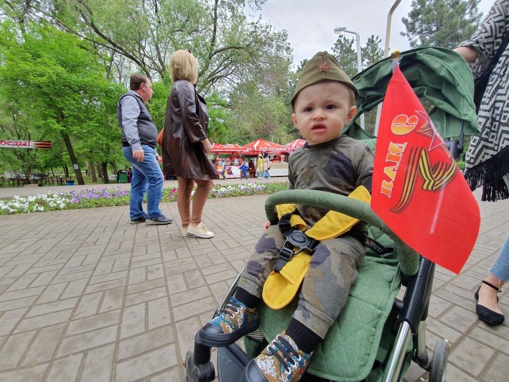 Тысячи волгодонцев пришли в парк Победы отметить 74-ю годовщину Победной весны