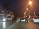 Массовую аварию на съезде с улицы Степной на улицу Горького сняли на видео волгодонцы