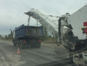 В Волгодонске вовсю идет ремонт дороги по улице Прибрежной