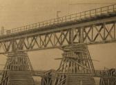 8. Временный железнодорожный мост через Дон, ок.1950 года