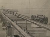 11. Паровоз на плотине Цимлянской ГЭС, ок.1953 года
