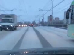 Автомобилист высмеял зимнюю уборку магистралей Волгодонска на горячий кавказский манер