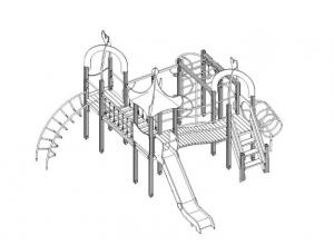 Детская деревянная игровая площадка и тренажеры появится в сквере «Юность» в Волгодонске