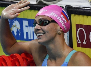 Ефимова победила на дистанции 100 м брассом на этапе Кубка мира по плаванию в Нидерландах