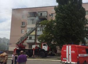 Крупный пожар произошел в квартире по улице  Курчатова