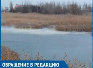Волгодонец запечатлел странную желтоватую дымку над Сухо-Соленовской балкой