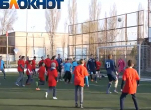 311 футболистов приняли участие в массовом футбольном матче в Волгодонске