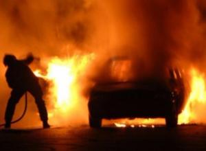 «Семерка» сгорела под Волгодонском