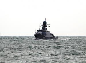 Экипаж МАК «Волгодонск» выполнил артиллерийские стрельбы по плавающим минам
