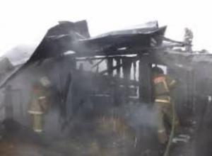 В садоводстве «Маяк» произошел пожар бесхозного строения