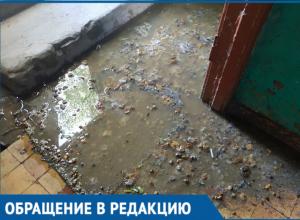 Канализация затапливает подъезд в Волгодонске
