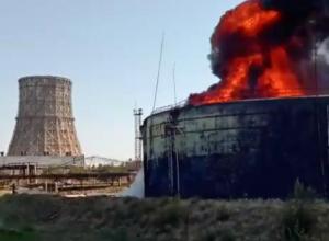 Крупный пожар на территории ТЭЦ-2 был ликвидирован