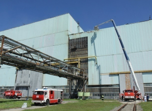 Во время ремонта кровли на Атоммаше вспыхнул пожар