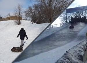 «Снежные горки — это опасно»: волгодонец рассказал об ужасах, которые ждут желающих прокатиться с горки