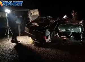 Появилось видео с места жуткой аварии, где погиб молодой житель Зимовниковского района
