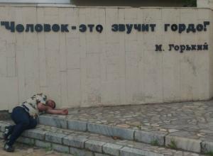 Пьяный житель Волгодонска проиллюстрировал классическое произведение Максима Горького «На дне»