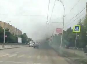 Коптящие автобусы травят город выхлопными газами