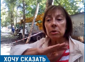 С дуру режут, - член творческой ассоциации при ЮНЕСКО о вырубке деревьев у «Дома художников» в Волгодонске