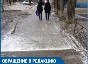 Улицы Волгодонска вновь превратились в каток