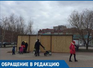 Бюст Героя России Молодова теперь не видно из-за очередной торговой «будки», - волгодонец
