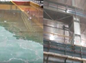 Первый корпус «Атоммаша» затопило во время сильного ливня