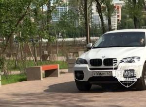 23-летнюю волгодончанку на BMW оштрафовали в Ростове за въезд на тротуар на левом берегу Дона