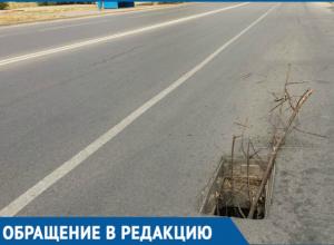 В Волгодонске украли решетки ливневой канализации