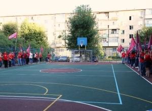 В старой части Волгодонска открылась новая спортивная площадка