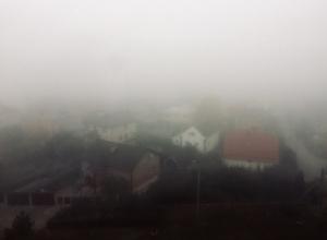 Густой туман окутал Волгодонск