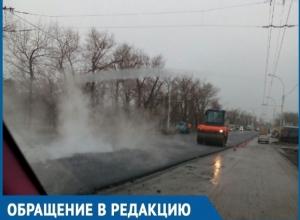 Волгодонцы сетуют на плохую видимость из-за ремонта дорог на 2-й Бетонной