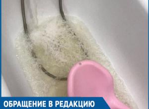Грязная коричневатая вода течет из кранов жителей Волгодонска