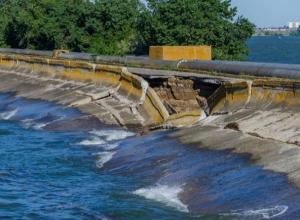 Разрушающийся водозабор на дамбе Цимлянского водохранилища может оставить город без воды