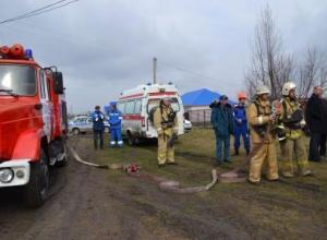 В Романовской отрепетировали химическую защиту населения и дозиметрический контроль на всякий случай