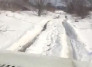 Житель Красного Яра снял на видео свой «тернистый» путь домой