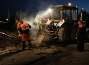 В Волгодонске начали ремонтировать дороги по ночам