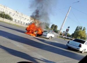 «Ауди» сгорела во время движения на Жуковском шоссе
