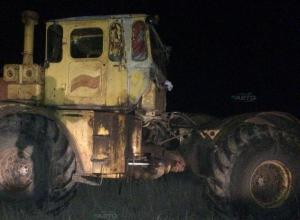 В стельку пьяный тракторист переехал жену в поле в Цимлянском районе