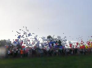 В Волгодонске установили рекорд, запустив в небо флаги из 4000 воздушных шаров