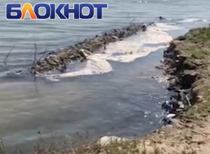 Цимлянский пляж «расплылся» от повышения уровня воды в водохранилище
