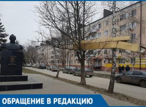 Загадочная конструкция непонятного происхождения повисла на деревьях в Волгодонске
