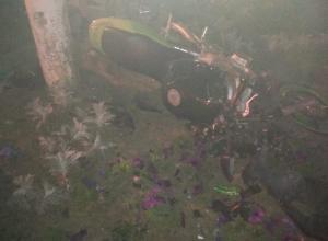 20-летняя мотоциклистка врезалась в столб на «Мирном Атоме» в Волгодонске, девушка в реанимации