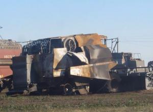 Накануне уборки урожая фермеру сожгли комбайн