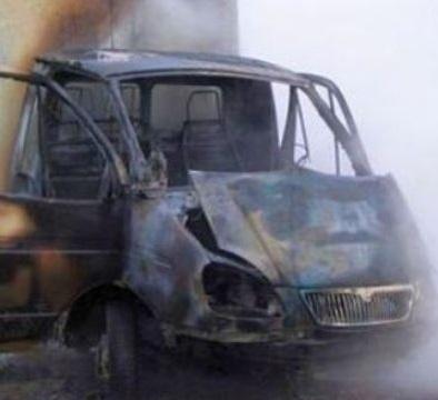 В Дубовском районе сгорела «Газель»