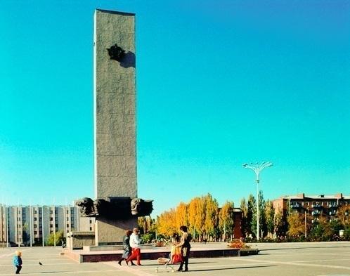 Волгодонск прежде и теперь: обелиск Победы