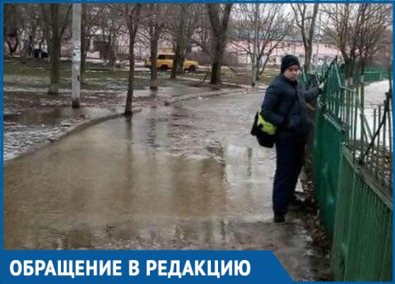 «Достали» реки и моря около садика «Уголёк», - волгодонцы о традиционном затоплении городских улиц