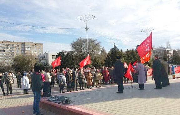 Волгодонские коммунисты вышли на протест против отмененной монетизации льгот